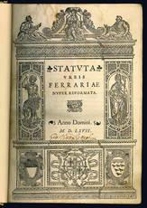 Statuta urbis Ferrariae nuper reformata.
