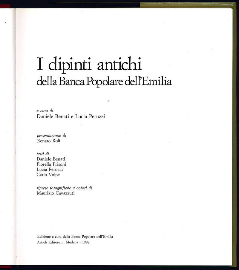 I dipinti antichi della Banca Popolare dell'Emilia.