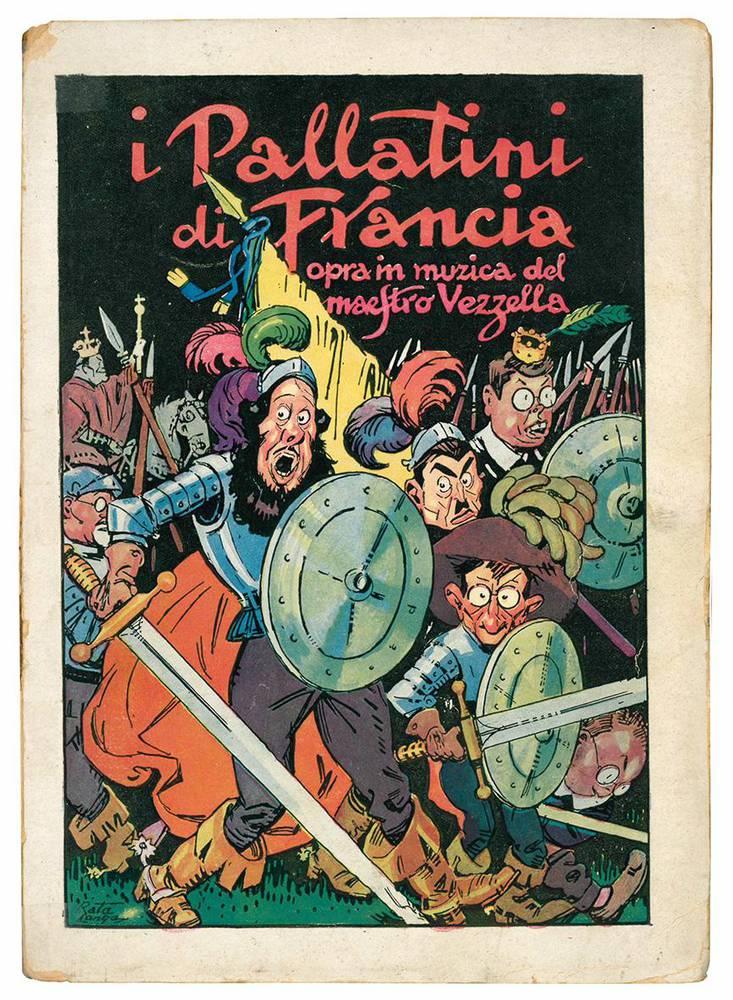 I Pallatini di Francia. Opra in muzica del Maestro Vezzella (Egeo Carcavallo). Prefazione di Adriano Tilgher. Disegni di