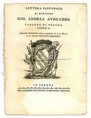 Lettera pastorale di monsignor Gio. Andrea Avogadro vescovo di Verona.