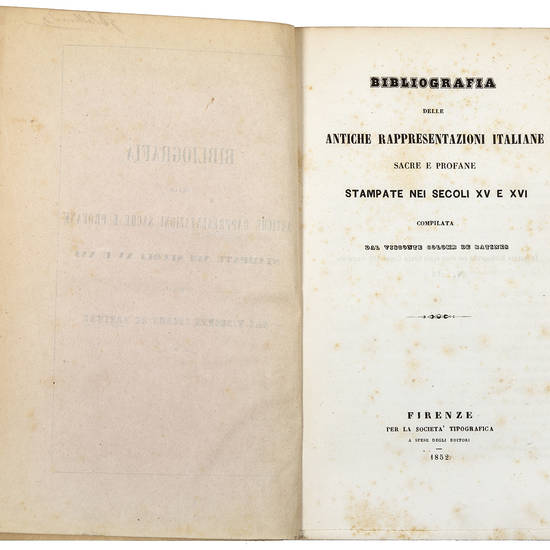 Bibliografia delle antiche rappresentazioni sacre e profane
