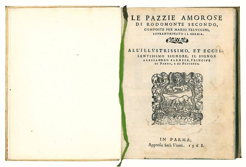 Le pazzie amorose di Rodomonte secondo, composte per Mario Teluccini, sopranominato il Bernia.