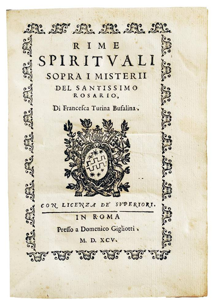 Rime spirituali sopra i misterii del Santissimo Rosario