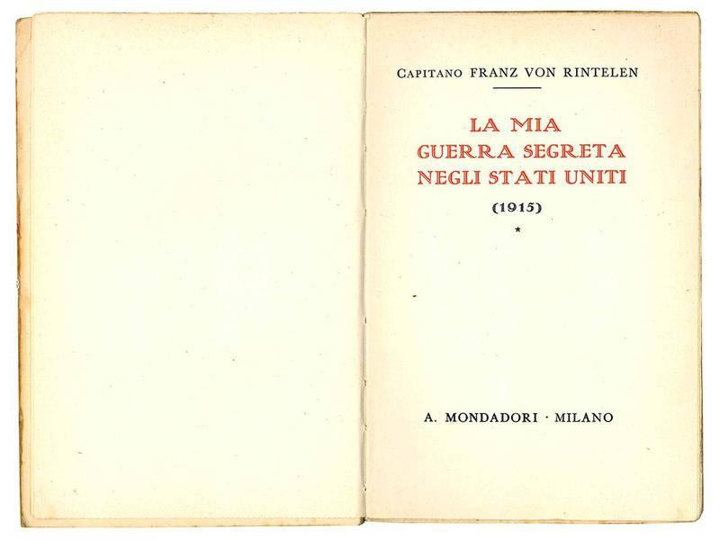 La mia guerra segreta negli Stati Uniti (1915).