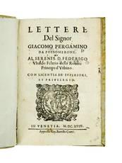 Lettere [...] Al serenis.mo D. Federigo Ubaldo Feltrio della Rovere, Principe d?Urbino