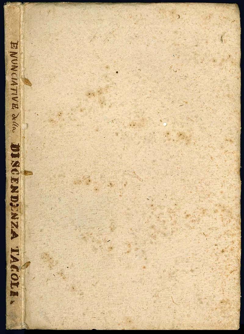 Enunciative in forma probante d'autentici monumenti, le quali comprovano per gradi distinti dal 1300, fino ad ora la discendenza
