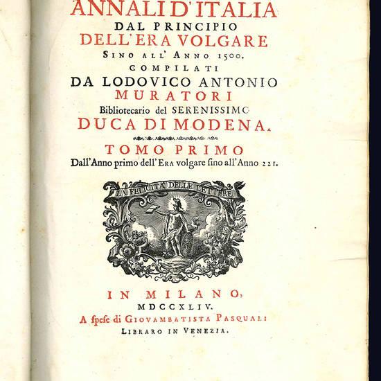 Annali d'Italia dal principio dell'era volgare sino all'anno 1500.