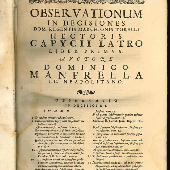 Observationes Dominici Manfrella.