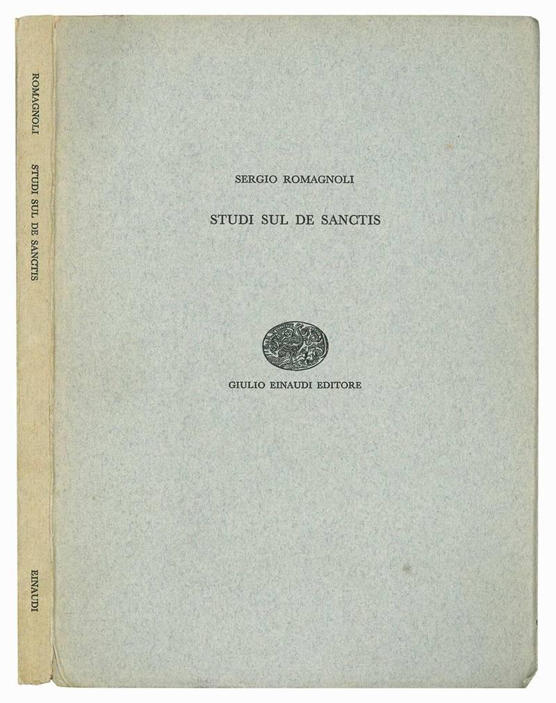 Studi sul De Sanctis.