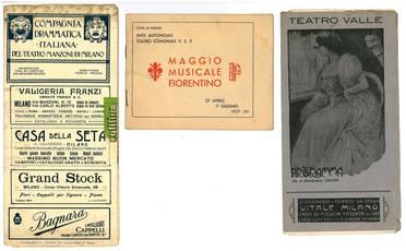 Raccolta di 20 opuscoli teatrali