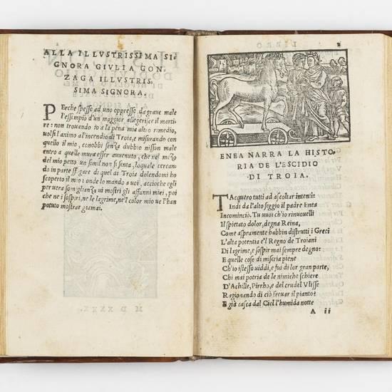 I sei primi libri del Eneide di Vergilio, tradotti à piu illustri & honorate donne. Et tra l'altre à la nobilissima & divina madonna Aurelia Tolomei de Borghesi, à cui ancho è indirizzato tutto il presente volume. MDXXXX