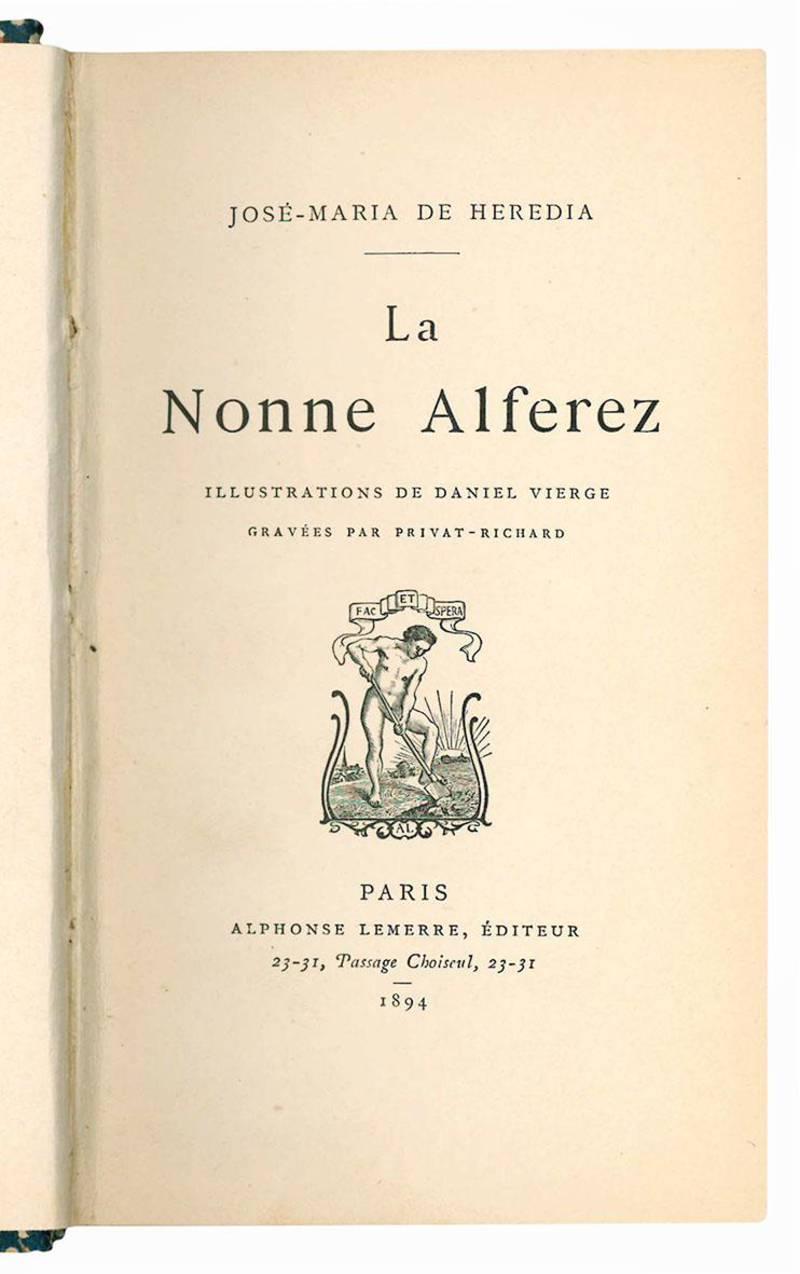 La nonne Alferez. Illustrations de Daniel Vierge. Gravees par Privat-Richard.