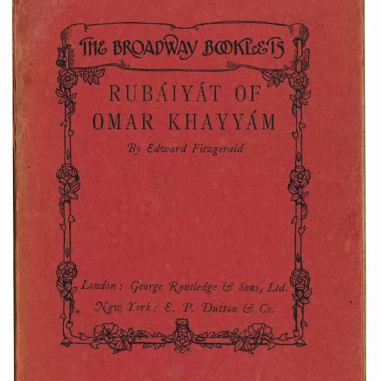 Rubaiyat of Omar Khayyam. Translated by Edward Fitzgerald. With four illustrations by Jessie M. King.
