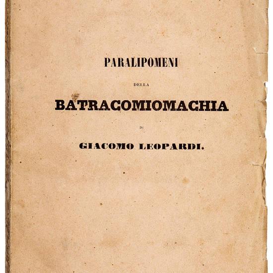Paralipomeni della Batracomiomachia