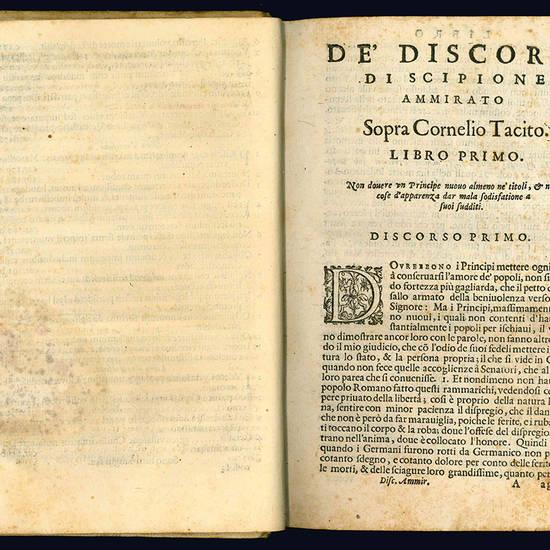 Discorsi del signor Scipione Ammirato, sopra Cornelio Tacito.