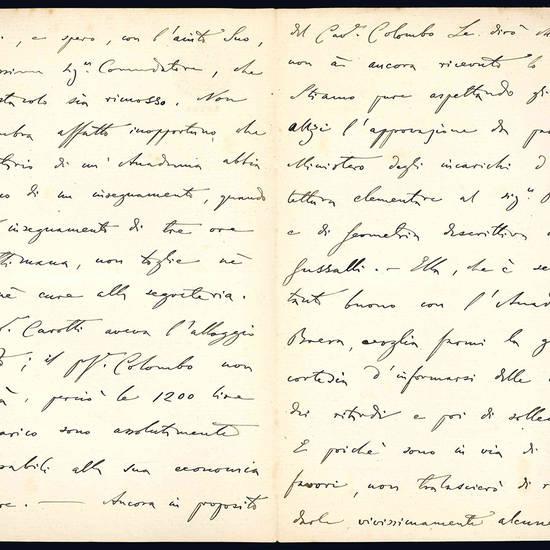 Lettera autografa. Milano: 17...1903.