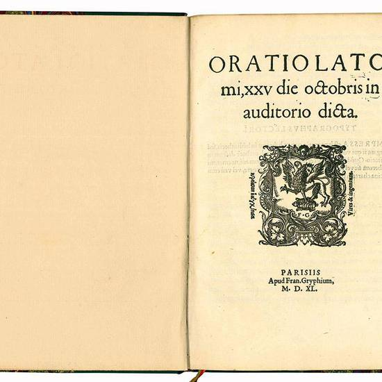 Oratio Latomi, XXV die octobris in auditorio dicta