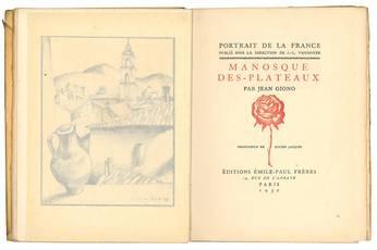 Manosque des-plateaux. Frontespice de Lucien Jacques.