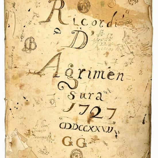 Raccolta di manoscritti e documenti autografi inerenti l'agrimensura. Ferrara, 1726-1770.