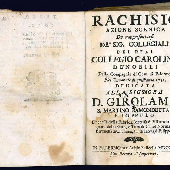 MISCELLANEA contenente sei libretti per musica palermitani