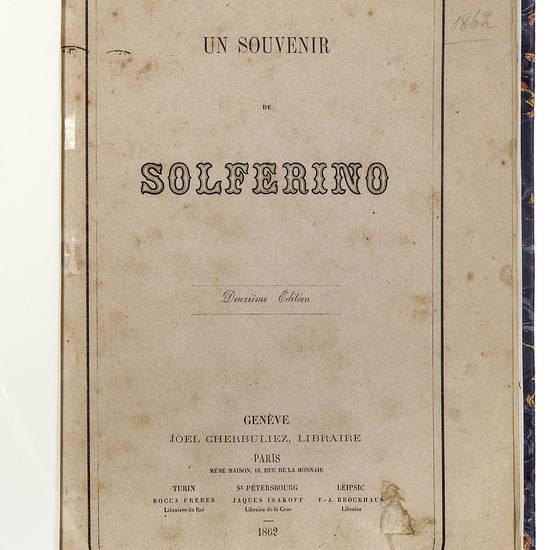 Un Souvenir de Solferino. Deuxième edition