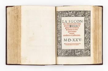 La prima [-seconda & ultima] parte delle vite di Plutarcho di greco in latino: & di latino in volgare tradotte & novamente con le sue historie ristampate. MDXXV