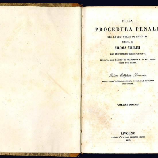 Della procedura penale nel Regno delle Due-Sicilie.
