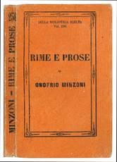 Time e prose di Onofrio Minzoni ferrarese. Edizione completa preceduta dall'elogio dell'autore.