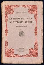 """La genesi del """"Saul"""" di Vittorio Alfieri. Saggio critico."""