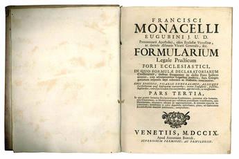 Formularium legale practicum fori ecclesiastici.