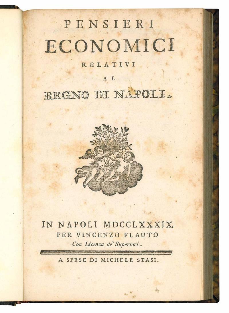 Pensieri economici relativi al regno di Napoli