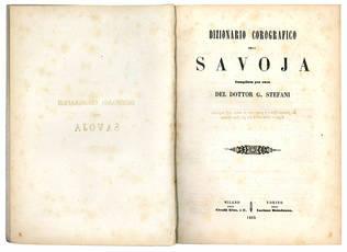 Dizionario corografico della Savoja.
