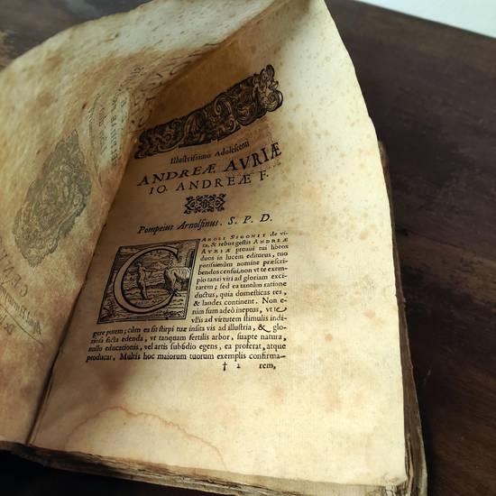 De vita, & rebus gestis Andreae Auriæ Melphiae principis libri duo. Ab auctore postremò recogniti