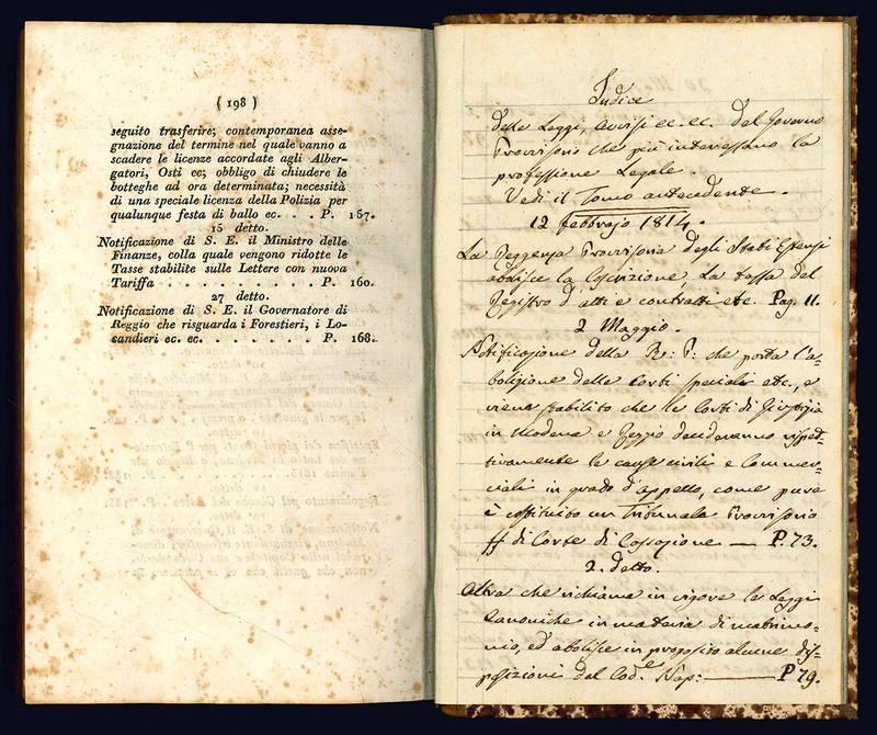 Leggi, proclami, avvisi e disposizioni del governo provvisorio degli stati estensi.