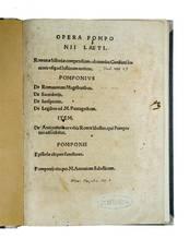 Epistolae aliquot familiares (in: ?Opera?, Beatus Rhenanus, ed.)