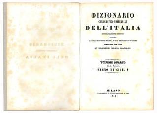 Dizionario corografico-universale dell'Italia. Regno di Sicilia.