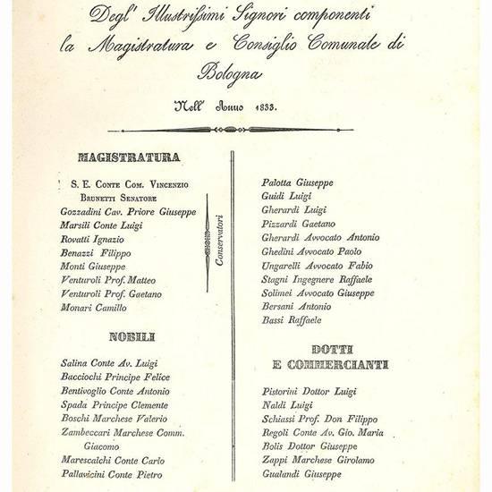 La metrologia europea comparata con quella di Roma, di Bologna, e di Parigi, e viceversa
