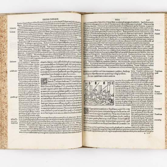 Suetonius Tranquillus cum Philippi Beroaldi et Marci Antonii Sabellici commentariis. Cum figuris nuper additis