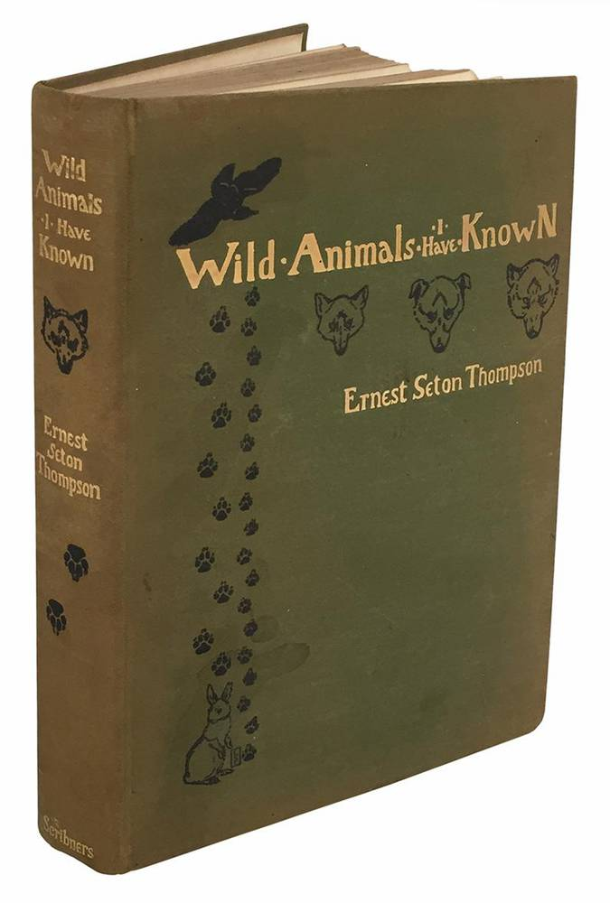 Wild animals i have known and 200 drawings, by Ernest Seton Thompson ... being the personal histories of Lobo, Silverspot, Raggylup, Bingo, the Springfield fox, the Pacing mustang, Wully and Redruff.