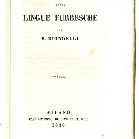 Studii sulle lingue furbesche.