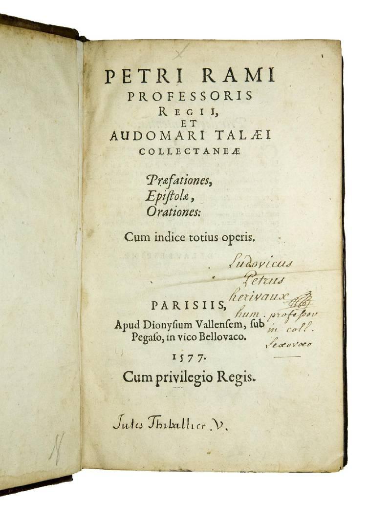 Collectaneae Praefationes, Epistolae, Orationes: com indice totius operis