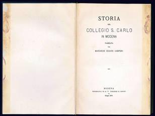 Storia del Collegio S. Carlo in Modena.