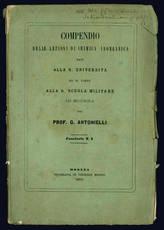 Compendio delle lezioni di chimica inorganica.