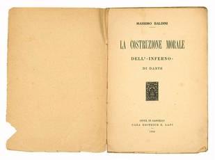 La costruzione morale dell'«Inferno» di Dante.