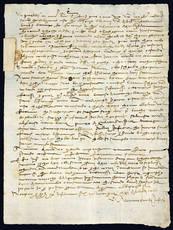 Lettera delle autorità fiorentine al Vicario di Poppi. 22 febbraio 1450.