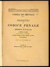 Progetto del Codice Penale per il Regno d'Italia.