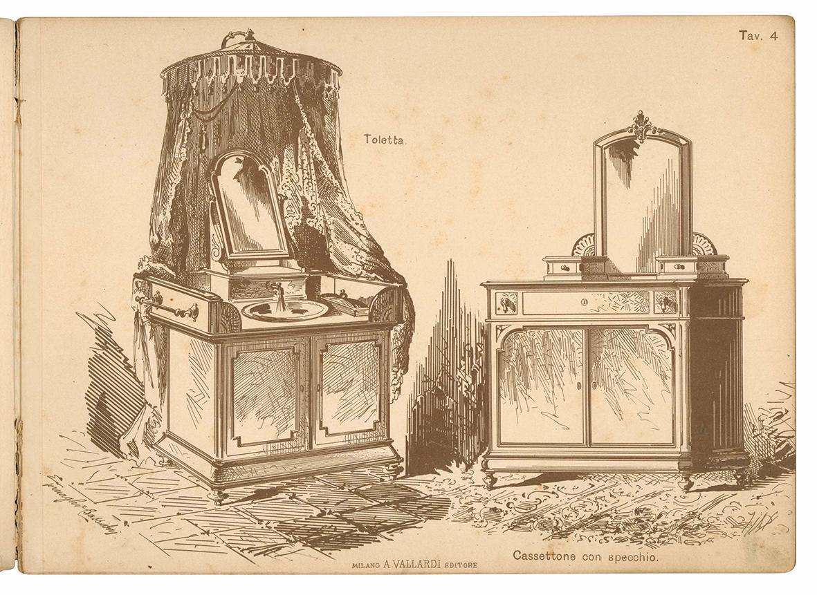 L'ebanista italiano. Collezione di mobili semplici disegnati da Tornaghi e Bassani.
