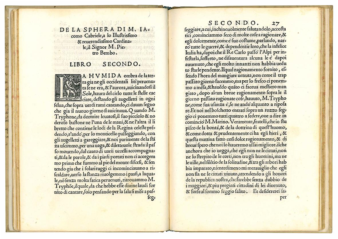 Dialogo di M. Iacomo Cabriele, nel quale de la sphera, et de gli orti et occasi de le stelle, minutamente si ragiona