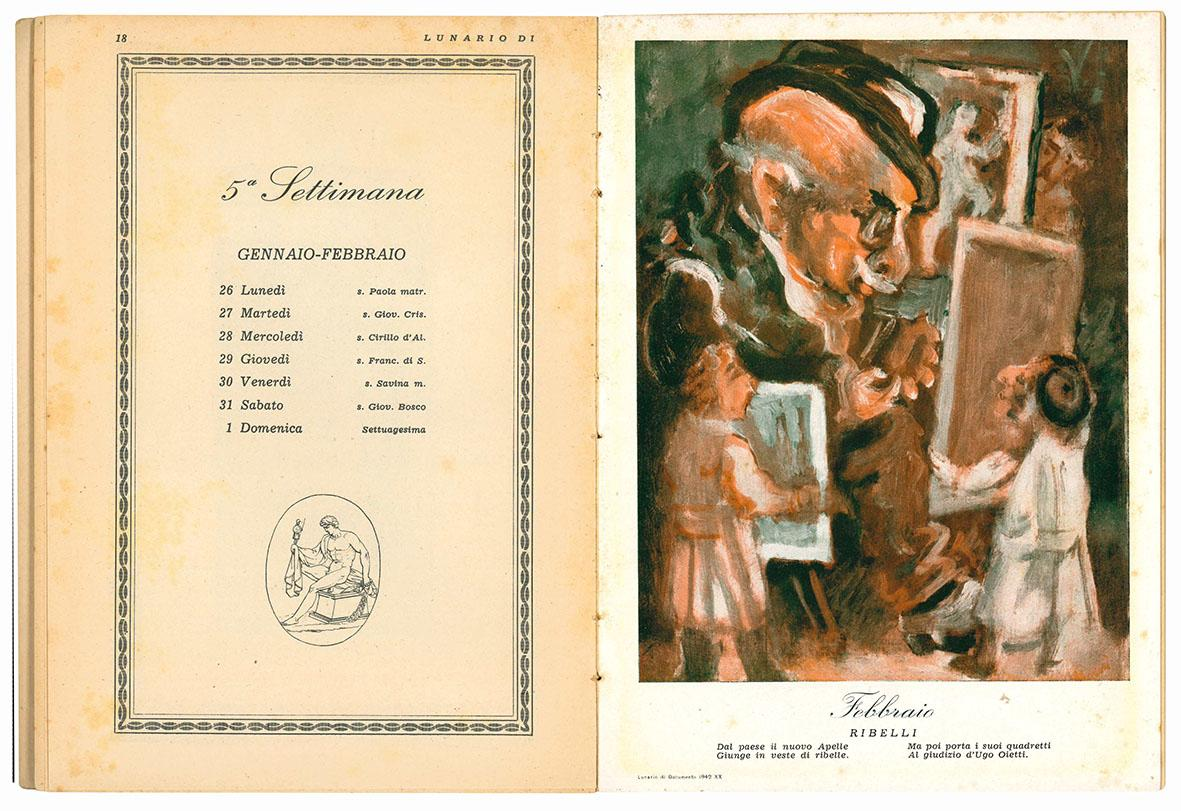 Lunario di Documento. 1942 - XX.