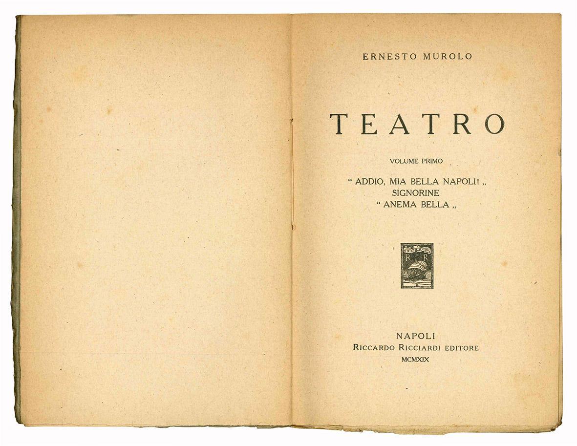 Teatro. Volume Primo.